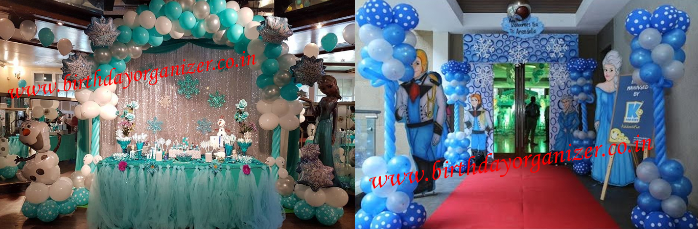Frozen Theme, Girls Theme Party ideas in noida, Girls Theme Party Decoration, Girls Theme Party Planner in delhi, Girls Theme Party Organizerf in delhi