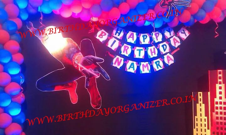 spider man theme birthday party planner in noida delhi ncr gurgaon, theme party ideas in noida delhi ncr gurgaon, theme party planner in noida delhi ncr gurgaon