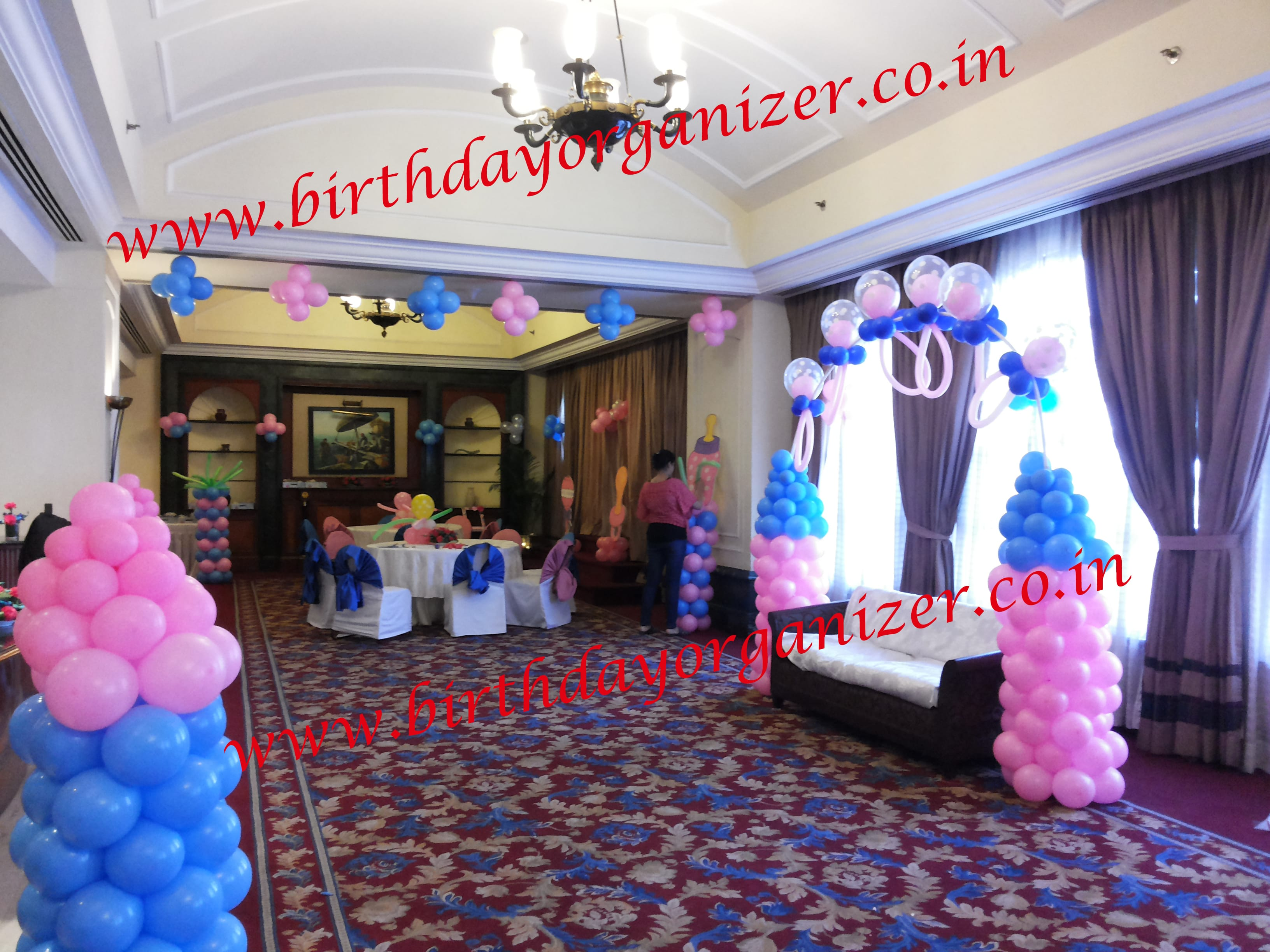 Baby shower balloon decoration in delhi , Baby shower balloon decoration in noida, Baby shower balloon decoration in ncr, Baby shower balloon decoration in gurgaon