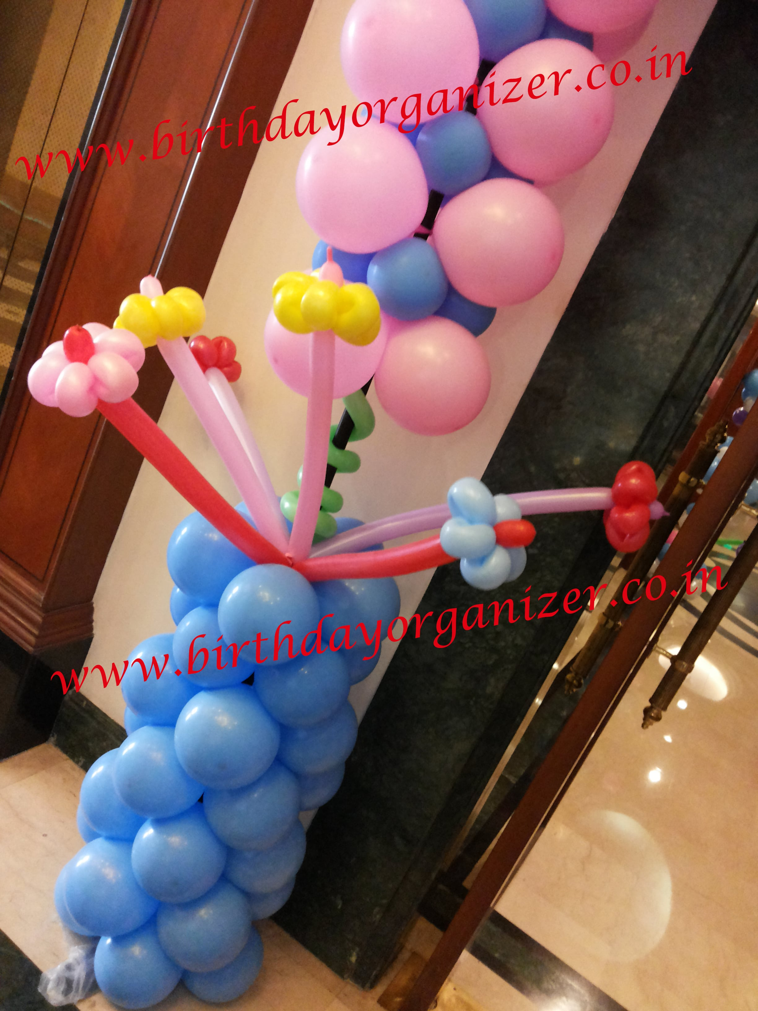 Baby shower balloon decoration with paper craft in noida delhi ncr gurgaon, Baby shower paper craft decoration in noida, Baby shower paper craft decoration in delhi,