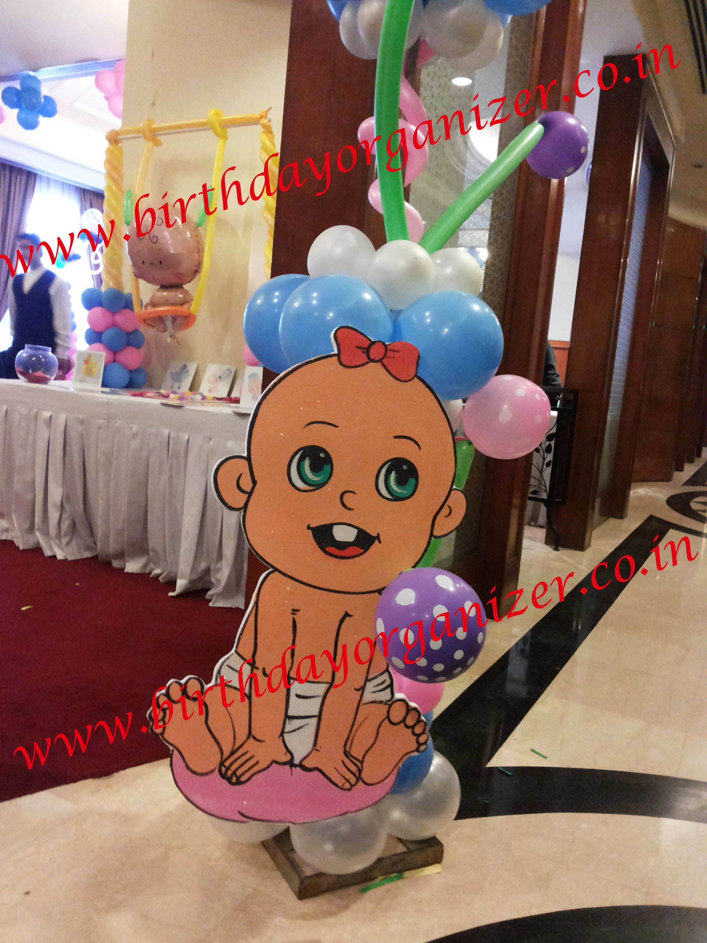 Baby shower cutout decoration in noida, Baby shower cutout decoration in delhi, Baby shower cutout decoration in gurgaon ncr