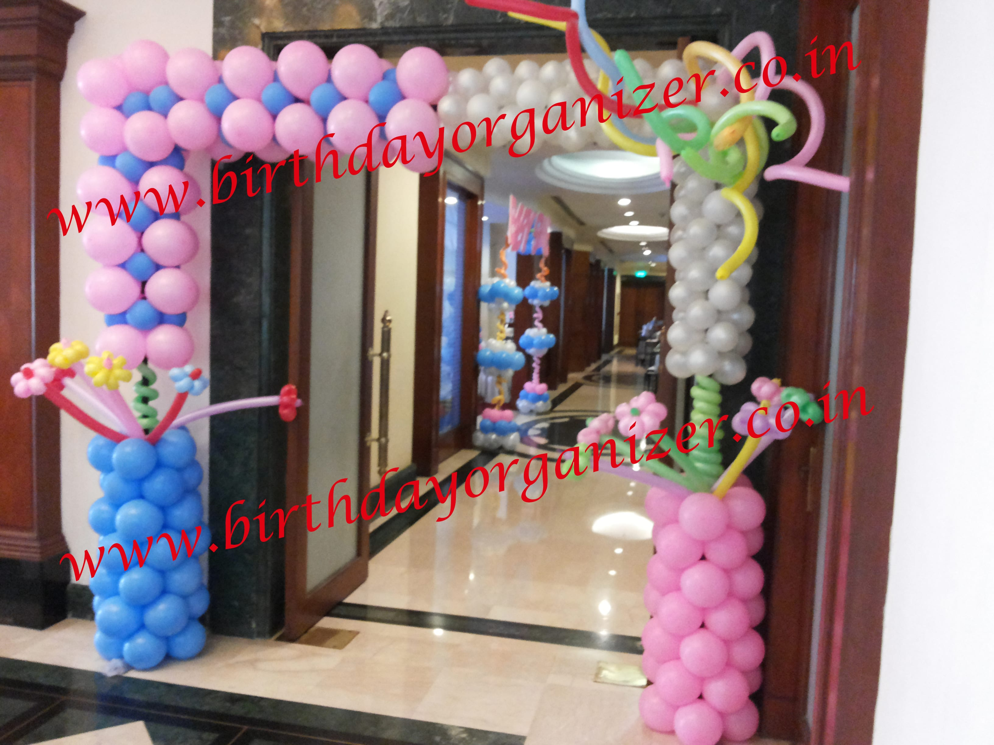Baby shower entrance decoration in noida, Baby shower entrance decoration in delhi ncr gurgaon,
